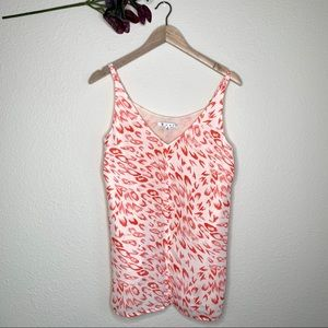 Cabi flirty cami coral cheetah print top S #267